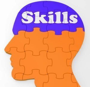 Skills Brain Showing Abilities Competence And Training